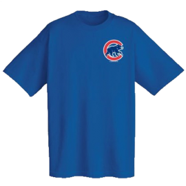 Chicago Cubs Official Wordmark Short Sleeve T-Shirt